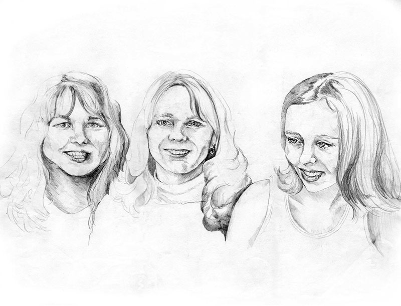 Portrait, 3 Women A2403